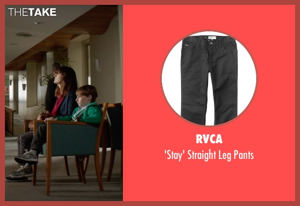 RVCA black pants from Poltergeist seen with Kyle Catlett (Griffin Bowen)