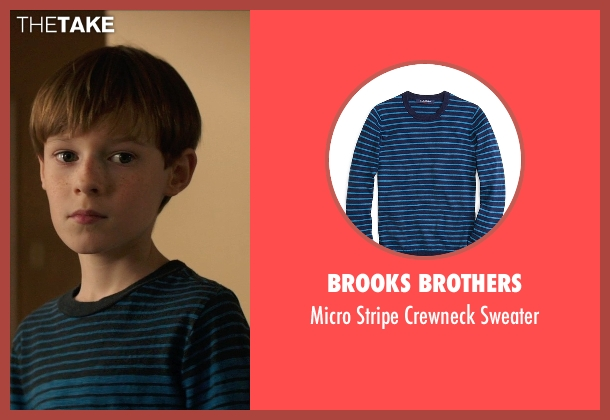 Brooks Brothers blue sweater from Poltergeist seen with Kyle Catlett (Griffin Bowen)