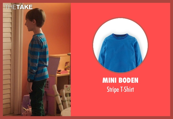 Mini Boden blue t-shirt from Poltergeist seen with Kyle Catlett (Griffin Bowen)