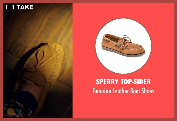 Sperry Top-Sider brown shoes from Poltergeist seen with Kyle Catlett (Griffin Bowen)