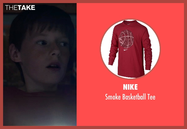 Nike red tee from Poltergeist seen with Kyle Catlett (Griffin Bowen)