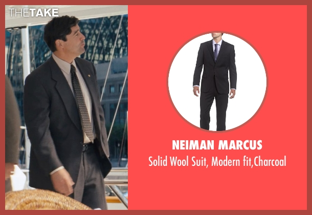 Neiman Marcus gray fit,charcoal from The Wolf of Wall Street seen with Kyle Chandler (Agent Patrick Denham)