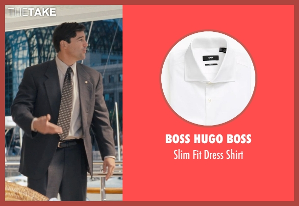 BOSS HUGO BOSS white shirt from The Wolf of Wall Street seen with Kyle Chandler (Agent Patrick Denham)