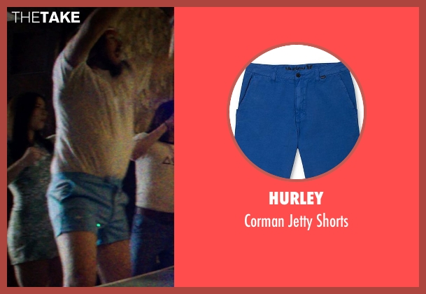 Hurley blue shorts from Neighbors seen with Kyle Newacheck (Beer Pong Guy #4)