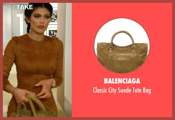 Balenciaga beige bag from Keeping Up With The Kardashians seen with Kylie Jenner