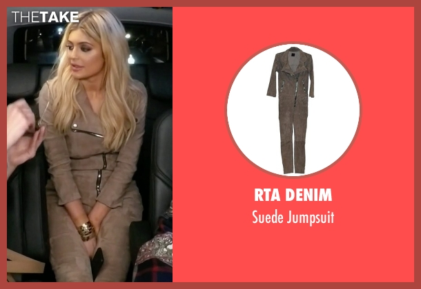 RTA Denim beige jumpsuit from Keeping Up With The Kardashians seen with Kylie Jenner