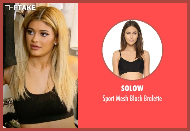 Solow black bralette from Keeping Up With The Kardashians seen with Kylie Jenner