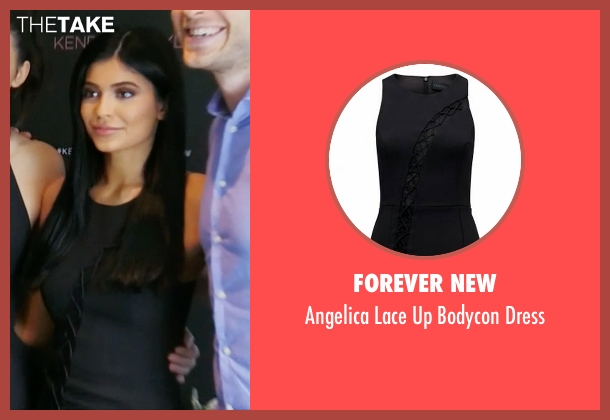 Forever New black dress from Keeping Up With The Kardashians seen with Kylie Jenner