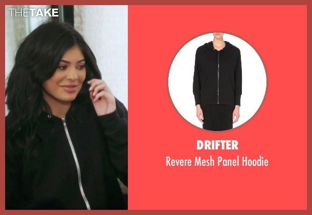 Drifter  black hoodie from Keeping Up With The Kardashians seen with Kylie Jenner