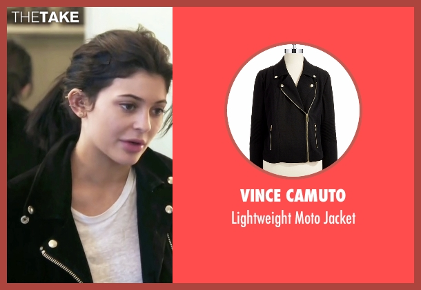 Vince Camuto black jacket from Keeping Up With The Kardashians seen with Kylie Jenner