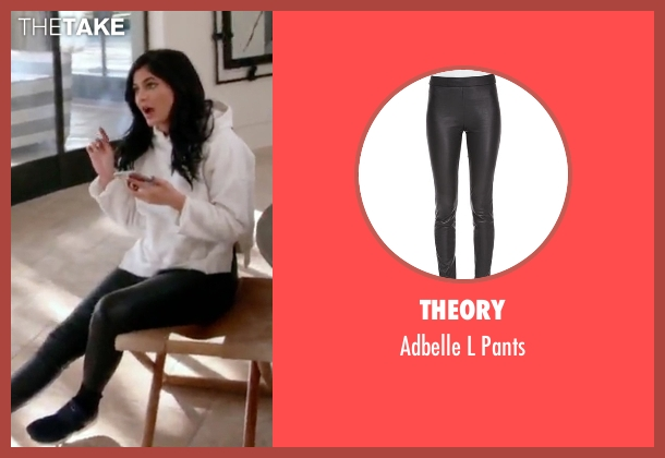 Theory black pants from Keeping Up With The Kardashians seen with Kylie Jenner