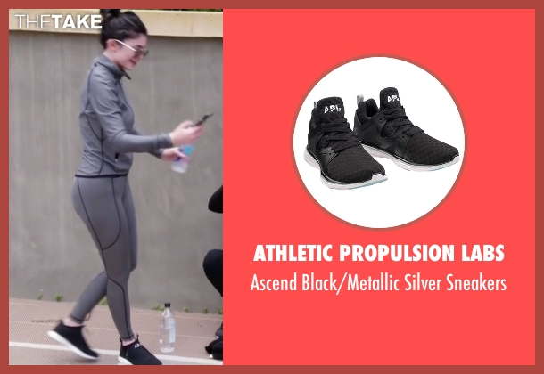 Athletic Propulsion Labs black sneakers from Keeping Up With The Kardashians seen with Kylie Jenner