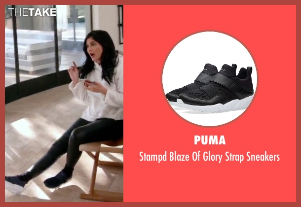 Puma black sneakers from Keeping Up With The Kardashians seen with Kylie Jenner