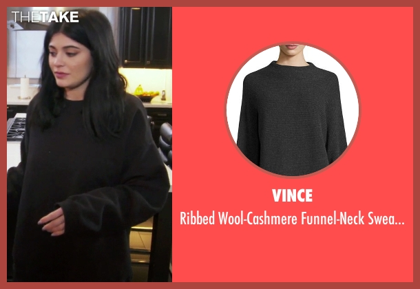 Vince black sweater from Keeping Up With The Kardashians seen with Kylie Jenner