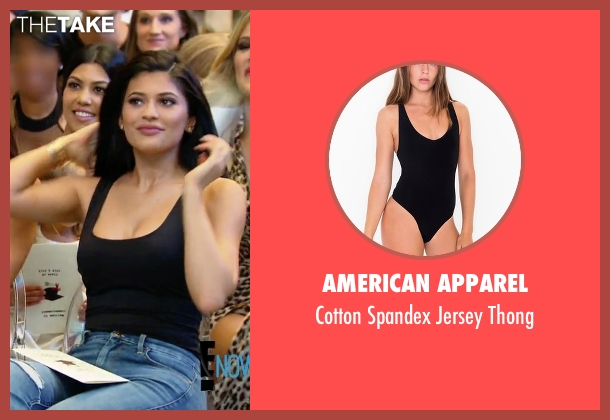 American Apparel black thong from Keeping Up With The Kardashians seen with Kylie Jenner