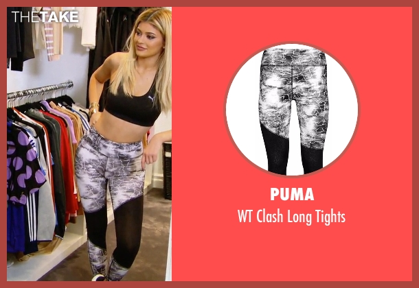 Puma black tights from Keeping Up With The Kardashians seen with Kylie Jenner