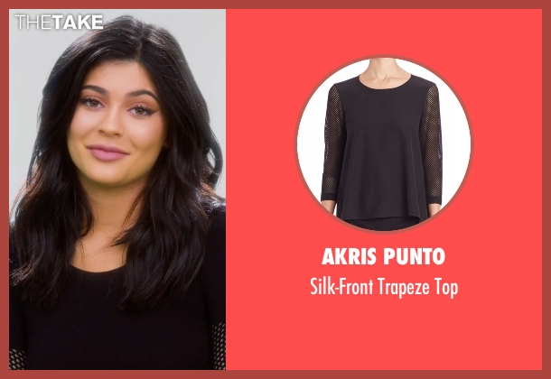 Akris Punto black top from Keeping Up With The Kardashians seen with Kylie Jenner
