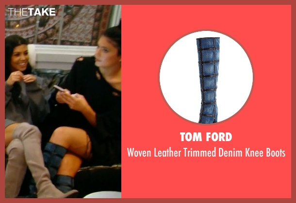 Tom Ford blue boots from Keeping Up With The Kardashians seen with Kylie Jenner