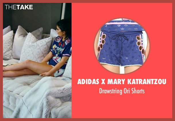 Adidas x Mary Katrantzou blue shorts from Keeping Up With The Kardashians seen with Kylie Jenner