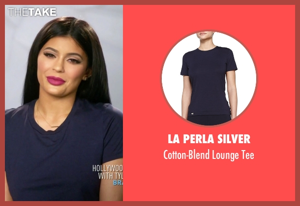 La Perla Silver blue tee from Keeping Up With The Kardashians seen with Kylie Jenner