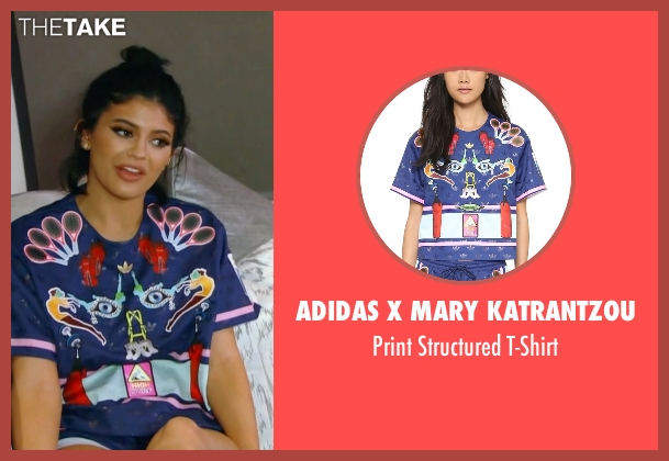Adidas x Mary Katrantzou  blue t-shirt from Keeping Up With The Kardashians seen with Kylie Jenner