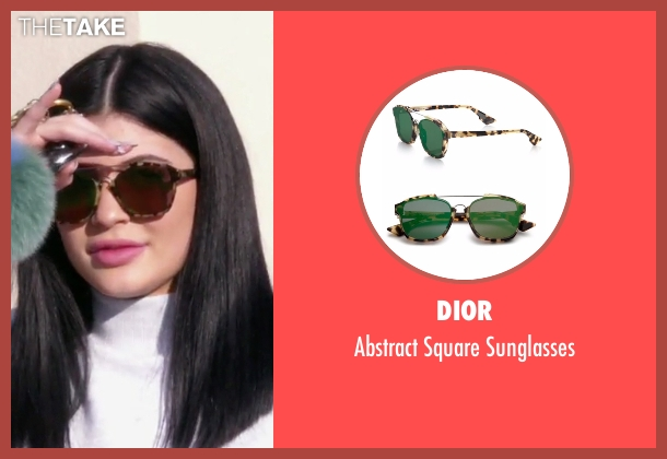 Dior brown sunglasses from Keeping Up With The Kardashians seen with Kylie Jenner