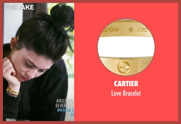 Cartier gold bracelet from Keeping Up With The Kardashians seen with Kylie Jenner