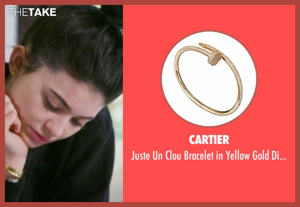 Cartier gold diamonds from Keeping Up With The Kardashians seen with Kylie Jenner