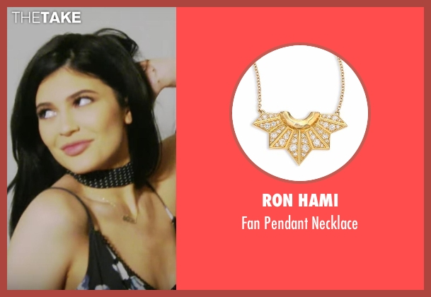 Ron Hami gold necklace from Keeping Up With The Kardashians seen with Kylie Jenner