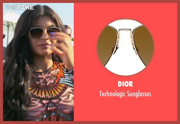 Dior gold sunglasses from Keeping Up With The Kardashians seen with Kylie Jenner