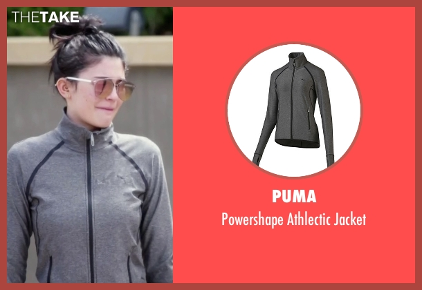 Puma gray jacket from Keeping Up With The Kardashians seen with Kylie Jenner