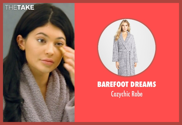 Barefoot Dreams gray robe from Keeping Up With The Kardashians seen with Kylie Jenner