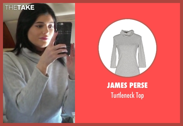 James Perse gray top from Keeping Up With The Kardashians seen with Kylie Jenner