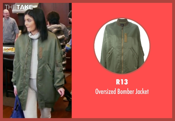 R13  green jacket from Keeping Up With The Kardashians seen with Kylie Jenner