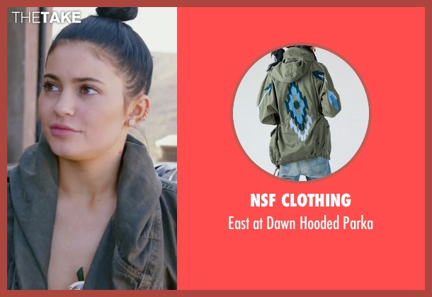 NSF Clothing green parka from Keeping Up With The Kardashians seen with Kylie Jenner