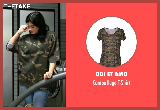 Odi Et Amo green t-shirt from Keeping Up With The Kardashians seen with Kylie Jenner