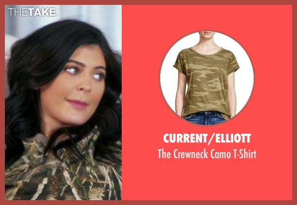 Current/Elliott green t-shirt from Keeping Up With The Kardashians seen with Kylie Jenner