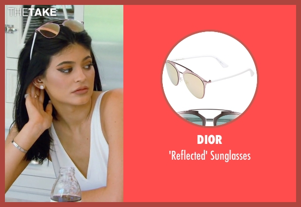 Dior pink sunglasses from Keeping Up With The Kardashians seen with Kylie Jenner