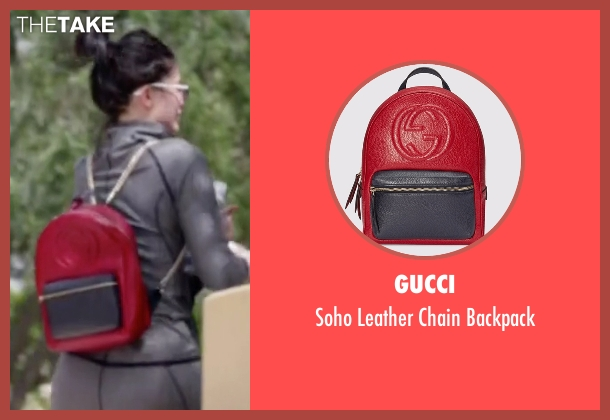 Gucci red backpack from Keeping Up With The Kardashians seen with Kylie Jenner