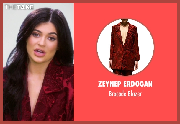 Zeynep Erdogan  red blazer from Keeping Up With The Kardashians seen with Kylie Jenner