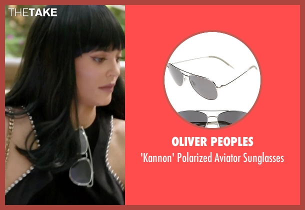 Oliver Peoples silver sunglasses from Keeping Up With The Kardashians seen with Kylie Jenner