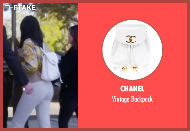 Chanel white backpack from Keeping Up With The Kardashians seen with Kylie Jenner