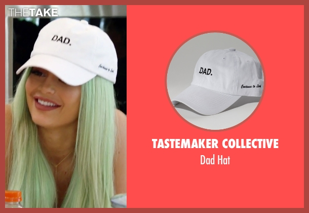 Tastemaker Collective white hat from Keeping Up With The Kardashians seen with Kylie Jenner