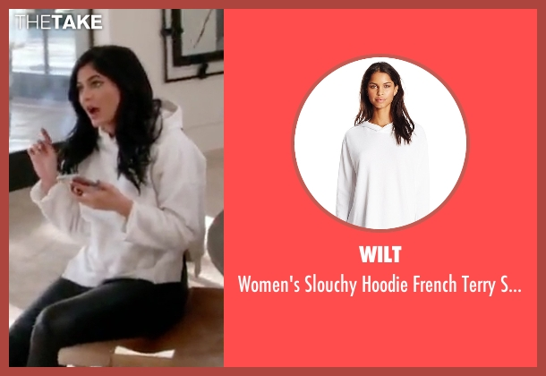 Wilt white sweatshirt from Keeping Up With The Kardashians seen with Kylie Jenner