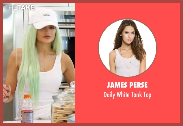 James Perse white top from Keeping Up With The Kardashians seen with Kylie Jenner