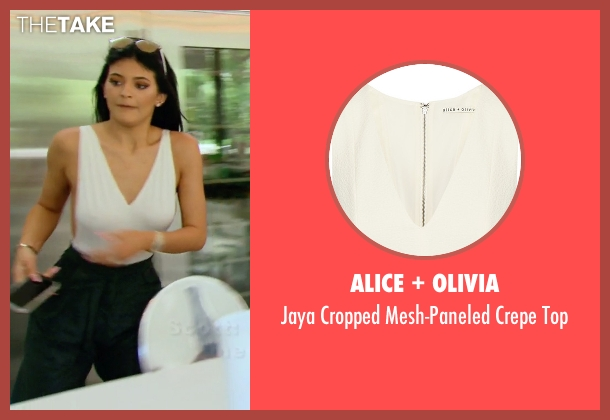 Alice + Olivia white top from Keeping Up With The Kardashians seen with Kylie Jenner
