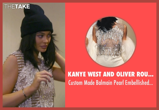 Kanye West and Oliver Rousteing white top from Keeping Up With The Kardashians seen with Kylie Jenner