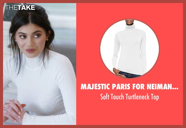 Majestic Paris for Neiman Marcus white top from Keeping Up With The Kardashians seen with Kylie Jenner