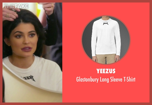 Yeezus  white t-shirt from Keeping Up With The Kardashians seen with Kylie Jenner