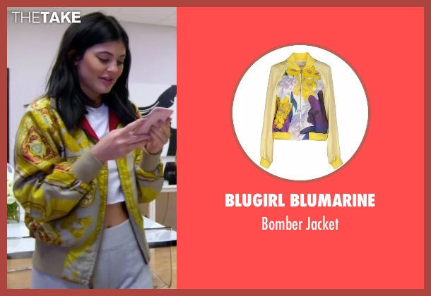 Blugirl Blumarine yellow jacket from Keeping Up With The Kardashians seen with Kylie Jenner